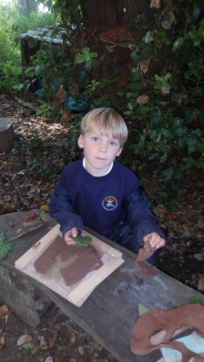 Year 2 clay leaves