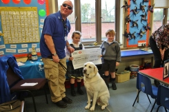 Year 1 cheque presentation to Guide Dogs for the Blind