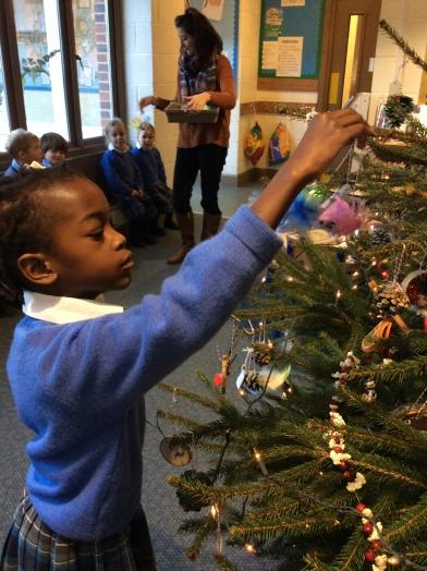 Reception decorating the tree