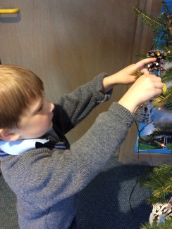 Reception decorating the tree