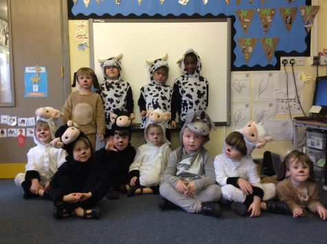 Reception in costume for the Nativity Play