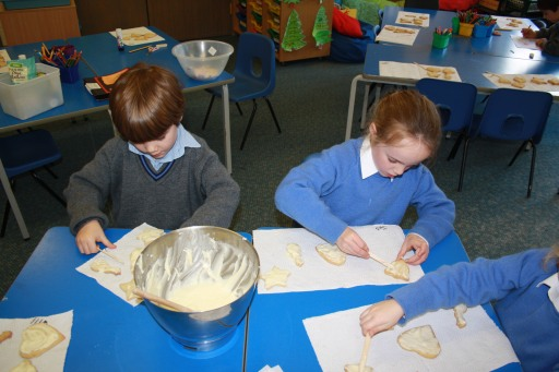 Year 1 baking Christmas cookies