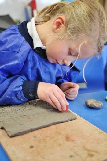 Year 2 Technicolor Clay Tiles