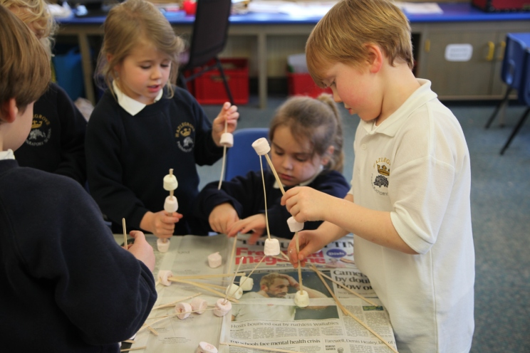 Year 1 marshmallow structures