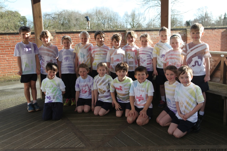 Year 2 spray paint t-shirts