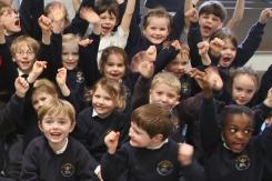 Cheque presentation to Save the Children
