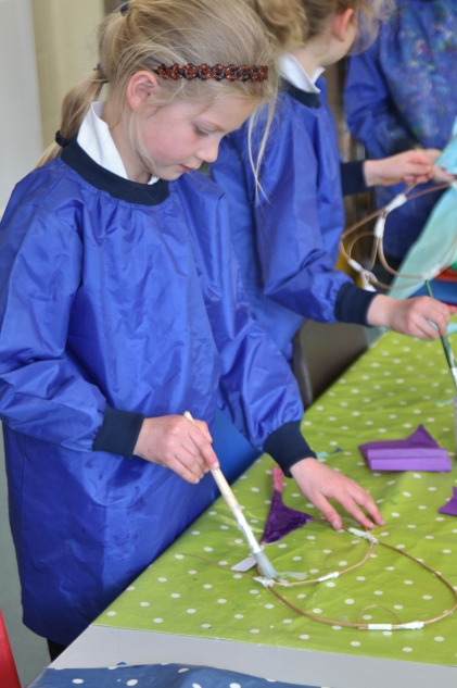 Year 2 willow and tissue fishes