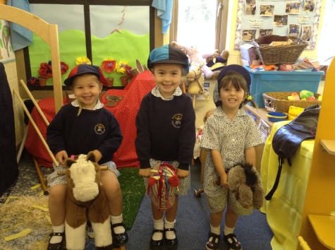 Nursery learning about horses