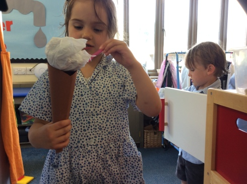 Reception ice cream van
