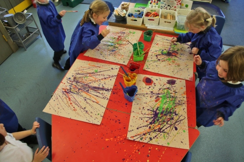 Reception Art lesson