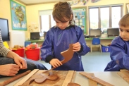 Year 1 making clay poppies