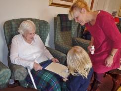 Nursery visited Highfield House Care Home
