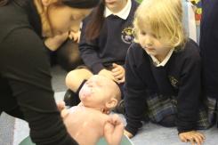 Baby Gracie in Nursery