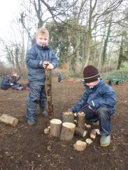 3 little pigs forest school
